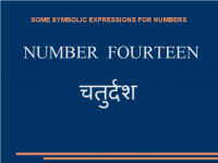 Some symbolic expressions for number fourteen