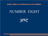 Some symbolic expressions for number eight