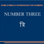 Symbolic expressions for number «three»