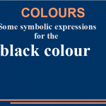 Some symbolic expressions for the black colour