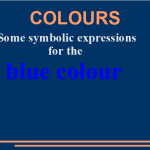 Some symbolic expressions for the blue colour