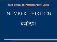 Some symbolic Expressions for number thirteen