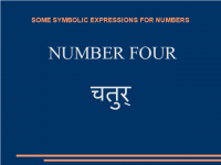 Some symbolic expressions for number four