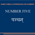 Some symbolic expressions for number five
