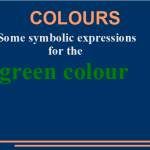 Some symbolic expressions for the green colour
