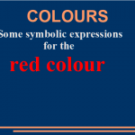 Some symbolic expressions for the red colour