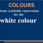 Some symbolic expressions for the white colour