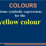 Some symbolic expressions for the yellow colour